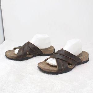 Nice Men's Teva Brown Leather sandals size 11